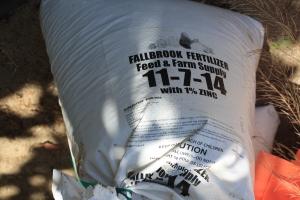 The fertilizer Gary uses.